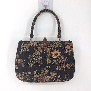 Vintage LEWIS Brocade Small Purse Floral Handbag